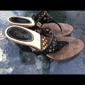 Coach Shoes - Coach Wedge Sandal size 8